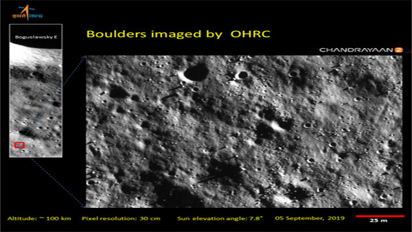 Orbiter High-Resolution Camera images of Chandrayaan 2