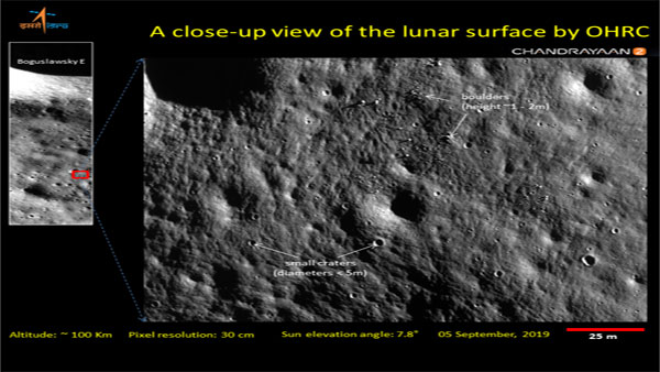 OHRC provides high-resolution images of the landing site