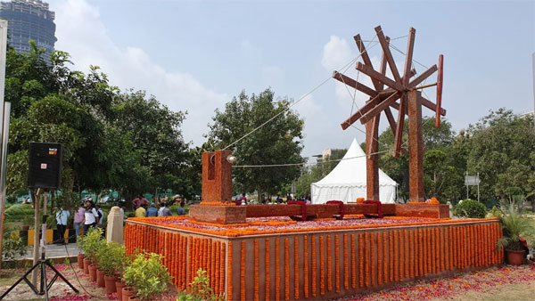 Gandhi Jayanti 2019: India's largest 'charkha' made of waste plastic inaugurated in Noida