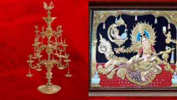 PM Modi gifts Chinese President Jinping Annam lamp and Thanjavur painting