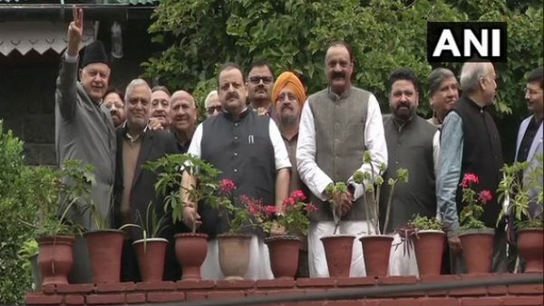 NC delegation meets Farooq Abdullah in Srinagar