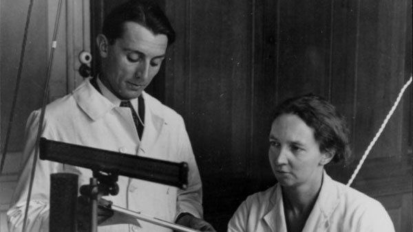 Frederic Joliot and Irene Joliot-curie