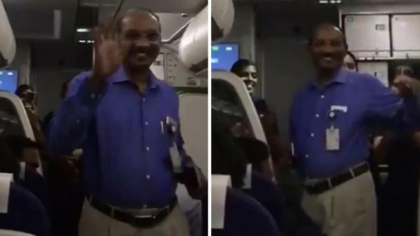 Watch: ISRO Chief K Sivan gets warm welcome, claps onboard IndiGo flight