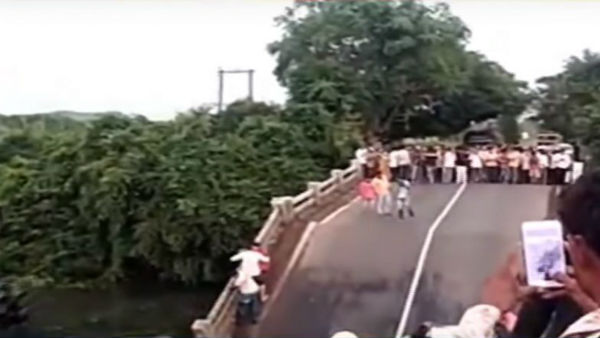 Junagadh bridge collapse: Many trapped as 4 cars fall into river; video goes viral