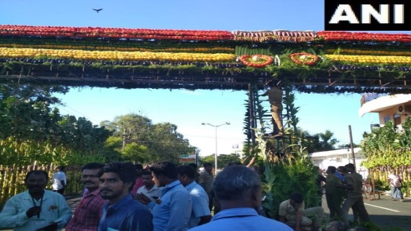Modi-Xi summit: 18 types of vegetables, fruits, used to erect gate at 'Panch Rathas'