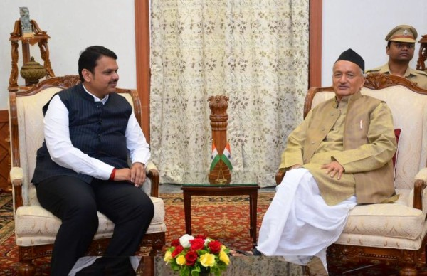 Maha CM, Shiv Sena leader meet Governor amid power-sharing tussle
