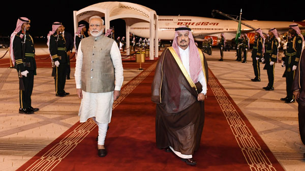 [PM Modi in Saudi Arabia, to attend key economic forum, hold bilateral talks with King Salman]