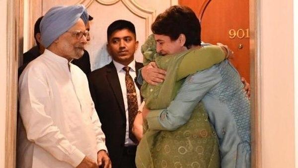 'Overdue', says Priyanka Gandhi after Sheikh Hasina's hug