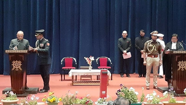 Radha Krishna Mathur takes oath as the first Lt Governor of Ladakh