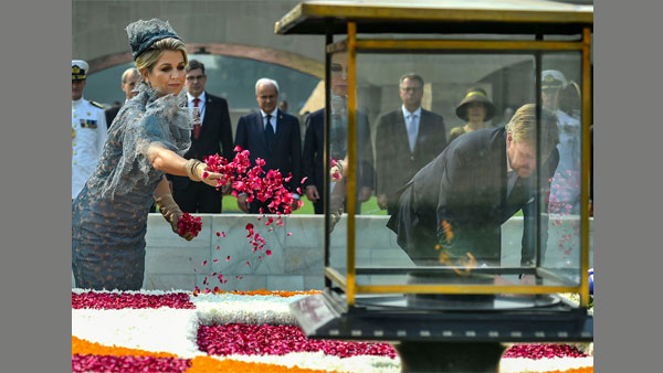 Dutch King and Queen at Rajghat