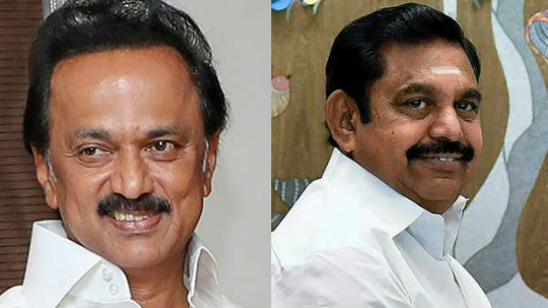 DMK chief MK Stalin (left) and Tamil Nadu Chief Minister Edapaddi K Palaniswami (right)
