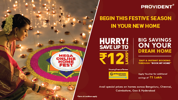 Provident Housing Mega Online Home Fest: Want to buy dream house? Save upto Rs 12 L starting today