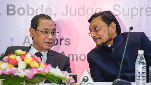 Chief Justice of India Justice Ranjan Gogoi and Supreme Court of India Judge Justice SA Bobde