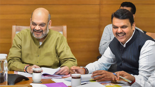 File photo of Amit Shah and Devendra Fadnavis