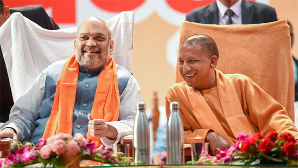 File photo of Amit Shah and Yogi Adityanath