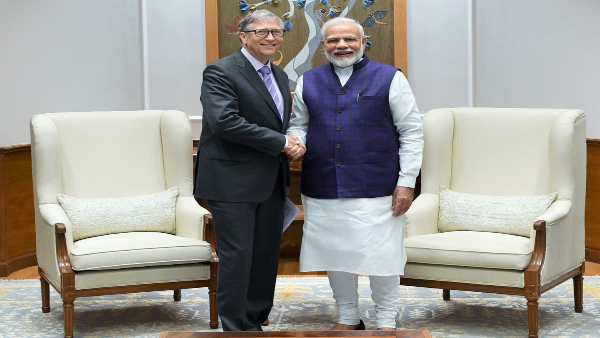 Bill Gates and Narendra Modi