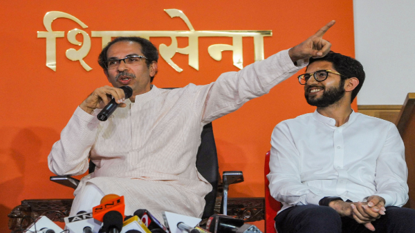 Uddhav Thackeray along with his son Aaditya