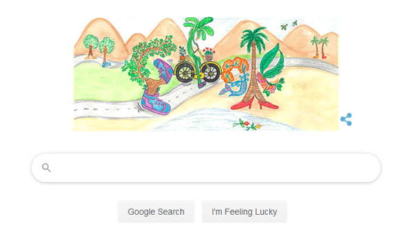 Google doodle celebrates Childrens Day with a Walking Tree