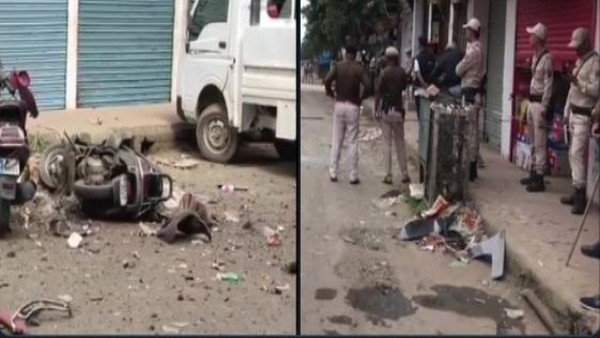 ANI Image of IED blast in Imphal