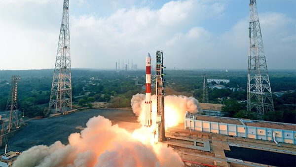 ISRO's first mission in 2021: PSLV-C51 carrying 19 satellites, E-Gita, PM's picture lifts-off from Sriharikota