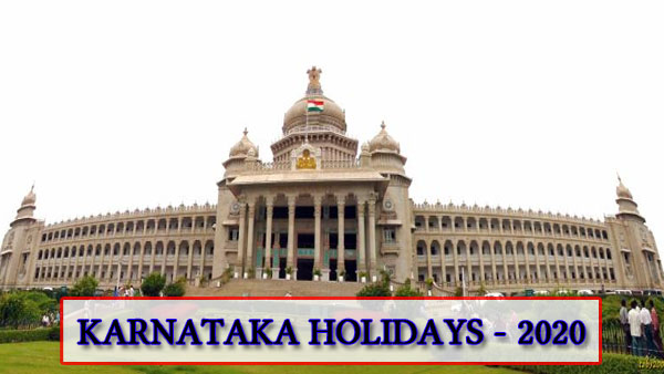 2020 list of holidays in Karnataka