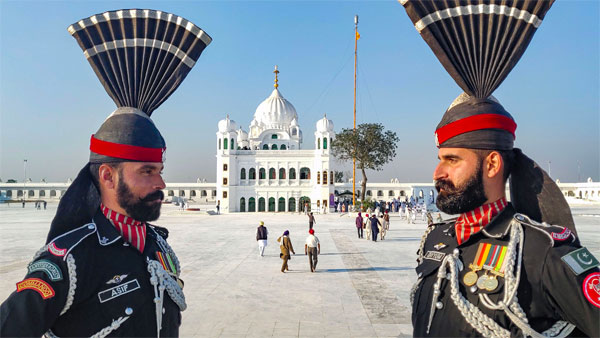 A view Gurdwara Kartarpur Sahib in Pakistan