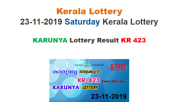 Kerala State Lottery Today Result: Rs 1 crore prize money for Karunya KR-423 lottery result