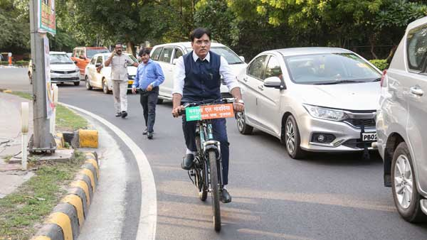 BJP MP opts for bicycle