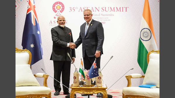 PM Modi meets his Australian counterpart Scott John Morrison