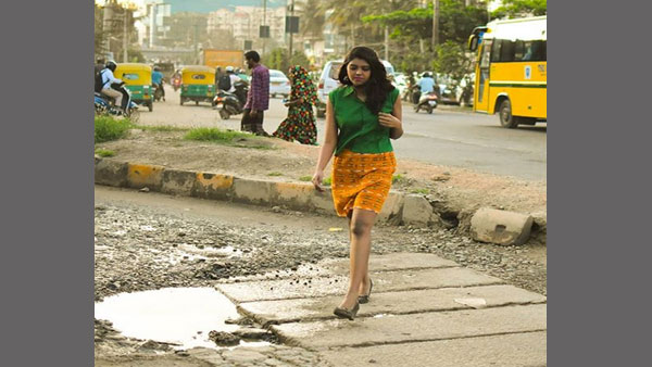 A unique way to highlight potholes in Bluru: Turn them into photo ops and embarrass the authorities