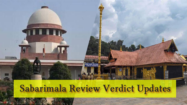 Sabarimala review verdict updates: Larger Bench of Supreme Court to take final call
