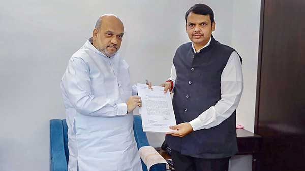 Fadnavis meets Shah in Delhi, says need to form govt in Maharashtra at earliest