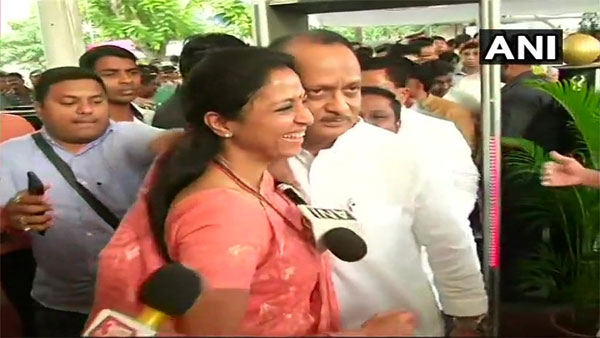 NCP rift over? Supriya Sule welcomes Ajit Pawar with a warm hug