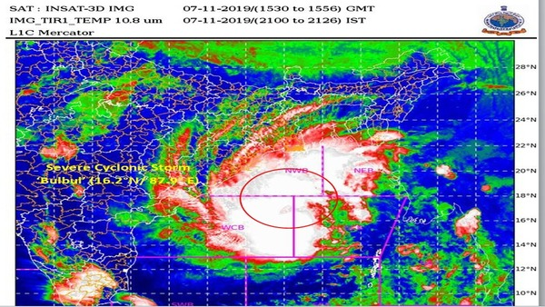 [Bulbul to intensify into Very Severe Cyclonic Storm; 'Orange Warning' for Odisha]