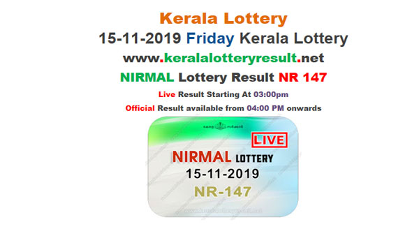 Kerala State Lottery Today Result: Nirmal NR-147 result LIVE, now