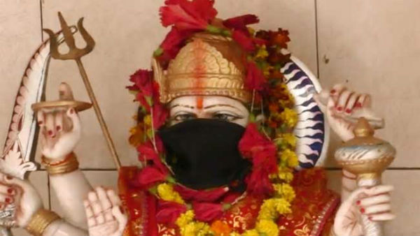 Pollution crises: Now Gods in Varanasi temples get anti-pollution masks to aviod toxic air