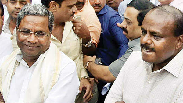 File photo of Siddaramaiah and H D Kumaraswamy