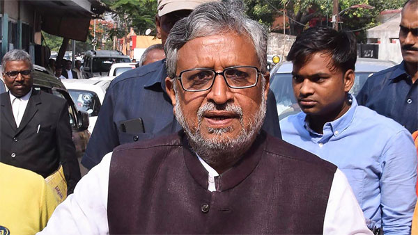 Sushil Modi looked dejected