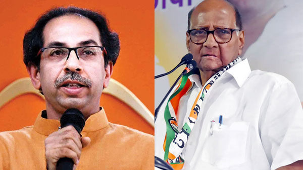 Uddhav Thackeray (left) and Sharad Pawar (right)