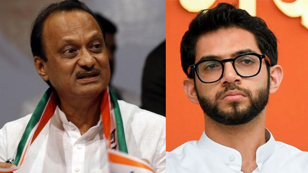 File photo of Ajit Pawar and Aaditya Thackeray