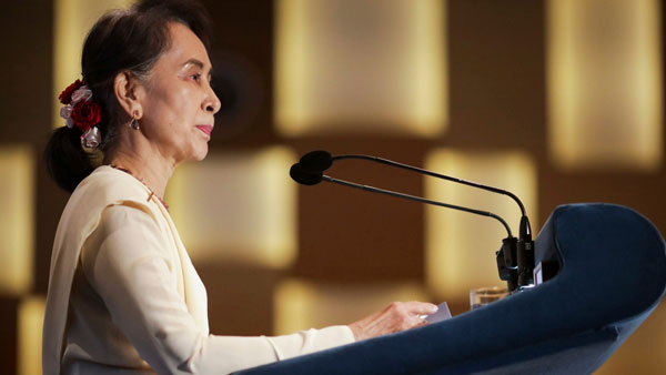 Myanmar's Suu Kyi charged, can be held until Feb 15