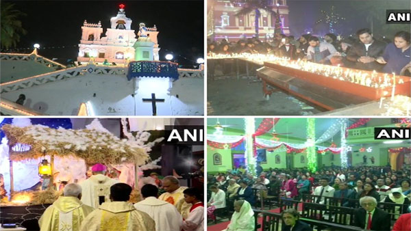 It's Christmas, people across India gathered in churches to attend midnight mass