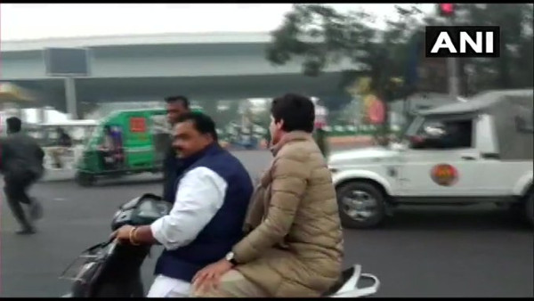 Congress party worker who gave ride to Priyanka Gandhi fined Rs 6100 for not wearing helmet