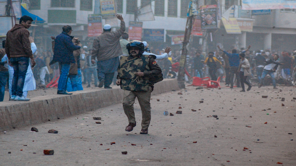 File photo of anti-CAA clashes in Kanpur