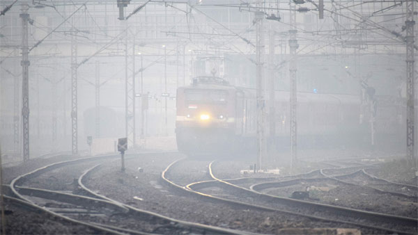 Over 46 flights diverted, trains delayed after dense fog engulfs Delhi