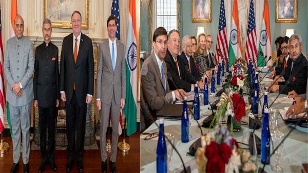 2+2 dialogue: India, US sign key defence pact, discuss cross-border terror