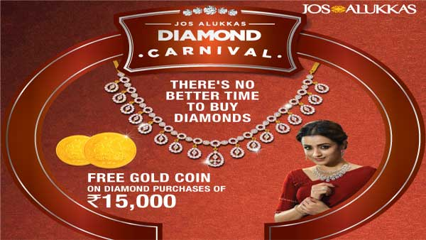 Now buy finest quality diamonds at Jos Alukkas Diamond Carnival