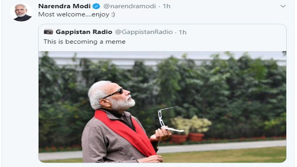 PM Modi reply 'Most Welcome' to Twitter user who calls 'PM's photo meme-worthy'