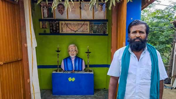'For the love of Modi': Tamil Nadu farmer builds temple for PM