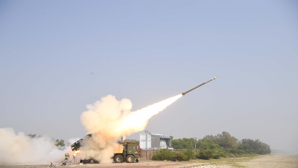 DRDO conducts 2 successful flight tests of Pinaka missile systems